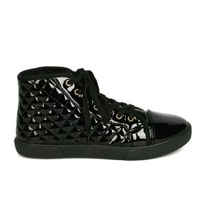 New Women's Qupid Patent PU Sneakers
